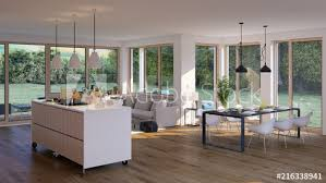 modernes wohnzimmer in bungalow moderne flat house with