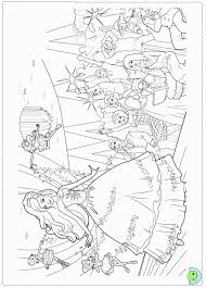 Barbie Fashion Fairytale Coloring Pages For Kids