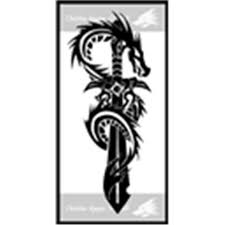 Fresh Tribal Sword Tattoo Design In 2017 Real Photo Pictures