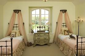Twin Metal Canopy Bed White With Curtains by Crown Above Bed Kids Traditional With Twin Beds White Trim Wrought