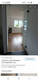 1x glastür wohnzimmertür 2550mm x 1100mm einbauen material