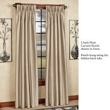 Linden Street Blackout Curtains marquee flared faux silk pinch pleat curtain panels