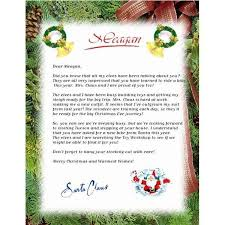 Letter From Santa Template Word Choice Image Letter Examples Ideas
