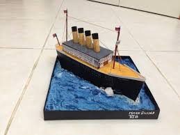 Rms Lusitania Model Sinking by Miniature Titanic Created As A Project For My Son