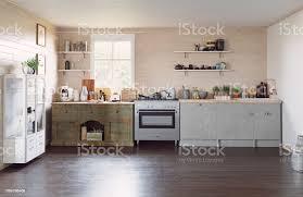 Mountain Kitchen Interior Landhausstil Küche Moderne Landhausküche Stockfoto Und Mehr Bilder Architektur