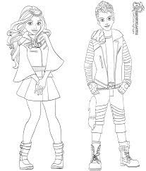 Carlos And Evie Coloring Page From Descendants 2 Characters