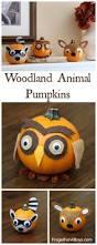 Foam Pumpkins Bulk woodland animals felt decorated pumpkins woodland animals