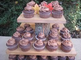 Rustic Cupcake Stand Wedding Decor Log Slice XLarge From