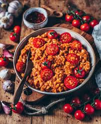 cremiges veganes tomaten risotto