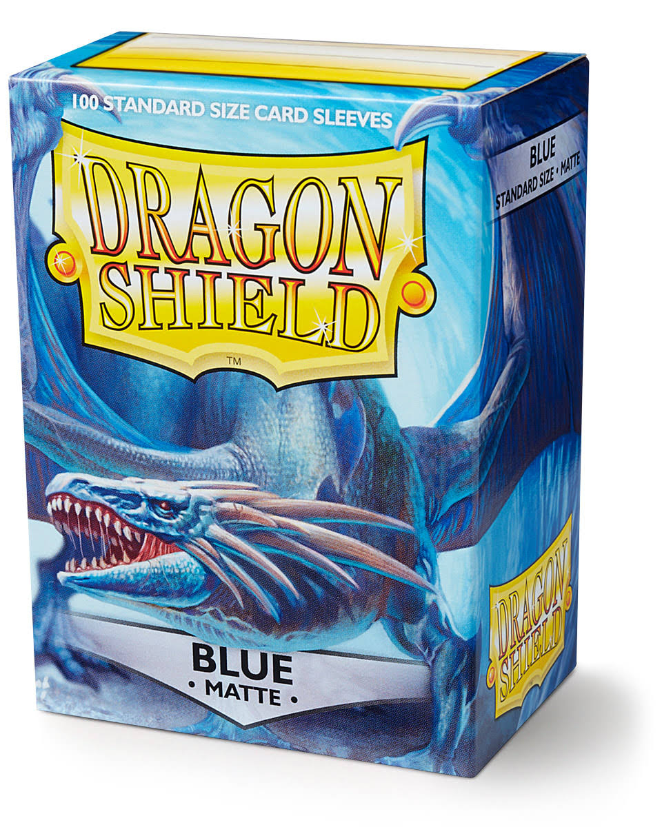 Dragon Shield Card Sleeves - Matte Blue, 100's