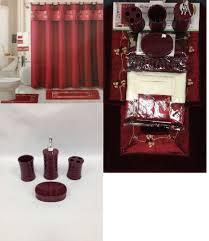 Walmart Bathroom Curtains Sets by Curtain 4 Pc Black Burgundy Zebra Ceramic Bathroom Set Soap