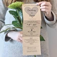 Heart Tri Fold Wedding Invitation