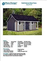 Shed Plans 16x20 Free by 16 U0027 X 20 U0027 Car Garage Workshop Project Plans Design 51620