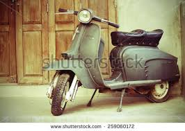 CHIANG MAITHAILAND FEB22 Old Vespa Parked In Front Of A House For
