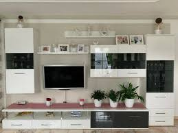 wohnzimmer wohnwand in weiß gebraucht sehr guter zustand