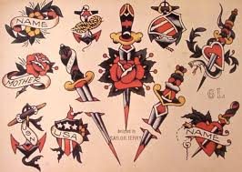 Sailor Jerry Tattoo Flash 10 Sheets Snakes Panthers Geisha Girls