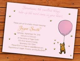 130 Best Winne The Pooh by Classic Winnie The Pooh Pink Baby Shower Invitation 4x6