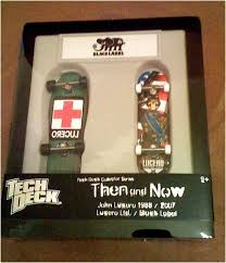 Amazon Tech Deck Scooter by Amazon Com Tech Deck Black Label Then And Now Skateboard Set John