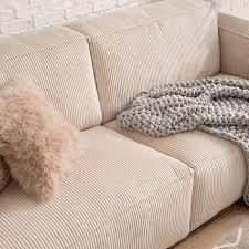 sofa loralai 3 sitzer cord creme wohnzimmer sofa