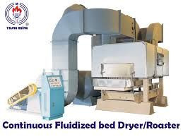 Fluid Bed Coffee Roaster by Taiwan Big Scale Continuous Fluidized Bed Dryer Roaster