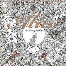 Image Is Loading Alice In Wonderland Coloring Book Art Therapy Anti