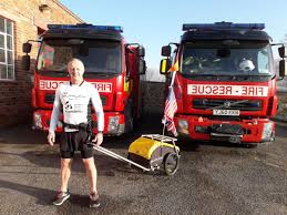 100 Rowe Truck Equipment Firefighter Justin In 1000mile Run Challenge Along American