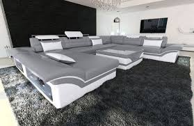 wohnlandschaft enzo leder wohnzimmer sofa sofa