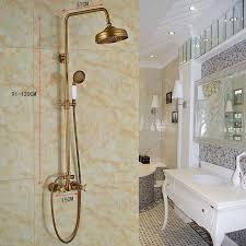 antik messing duschsystem wandmontage regenfall im badezimmer