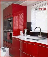 Glossy Red Kitchen Cabinets If You Have A Modern Decorating Style Embrace Bold Color And High Gloss Finish Vanilla White Cherry Lacquer