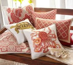 roz crewel embroidered lumbar pillow cover pottery barn