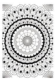 Free Coloring Page Mandala Adult 2 Very Harmonious Oriental Influences