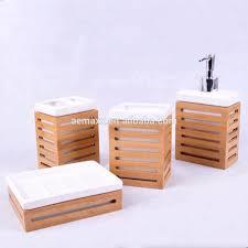 neue gadget großhandel einfach bad zubehör keramik bambus bad set buy bad set bad set bambus bambus holz badezimmer zubehör set bambus bad bambus