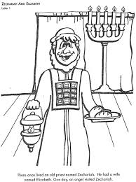 Zacharias And Elizabeth Coloring Pages