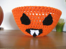 Vampire Pumpkin Pattern by Vampire Jackolantern Bowl Cover Crochet Tutorial Youtube