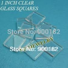 1 inch clear square flat glass tiles for photo craft jewelry make