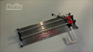 Brutus Tile Saw Manual by Rodia 50 U0026 75 Manual Tile Cutter Youtube