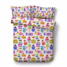 100 Fire Truck Bedding Twin Children Cartoon Colors Ice Cream Water Melon Ice Lolly 4pcs Cotton