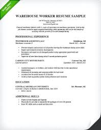 Warehouse Assistant Resume Sample Example