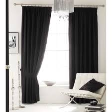 Faux Silk Eyelet Curtains by Buy Black Catherine Lansfield Faux Silk Eyelet Curtains At