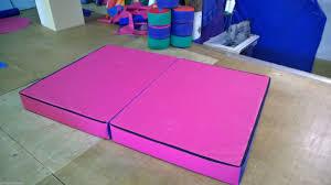 gymnastics floor mats uk pink gymnastics crash mats pvc 4 x 6 x 6inch quality v33h foam