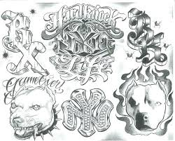 Gangster Letters How To Draw Tattoos Designs For Men Gangsta