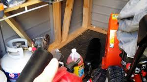 Rubbermaid Tool Shed Accessories by Vinyl Home Depot Shed Shelving Modification Youtube