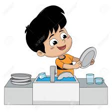 Kid Help Their Parents Wash Dishes