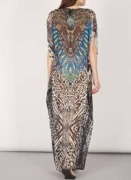 izabel london multi brown print maxi dress maxi dresses