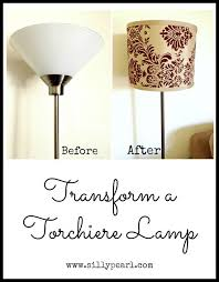 Cheap Torchiere Lamp Shade Replacement by 25 Unique Floor Lamp Makeover Ideas On Pinterest Tall Living