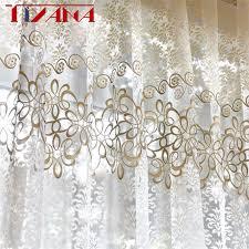 beste verkauf fertige vorhänge für wohnzimmer schlafzimmer bay fenster küche kurze sheer tüll vorhang moderne wohnkultur l39 4