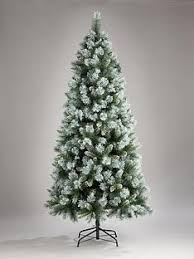 7FT Blue Green Cashmere Christmas Tree With White Frosted Tips