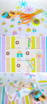 Diy Washi Tape Crafts Wrapping Paper