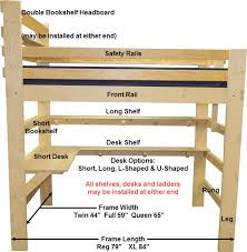 Queen Loft Bed Plans by Remarkable Sleep And Study Loft Bed Plans And All In One Sleep