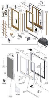 Andersen 400 Series Patio Door Assembly by Frenchwood Gliding Patio Door Parts Diagram